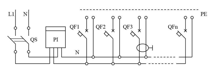 Общая схема электрическая принципиальная щитков ЩК, ЩКм