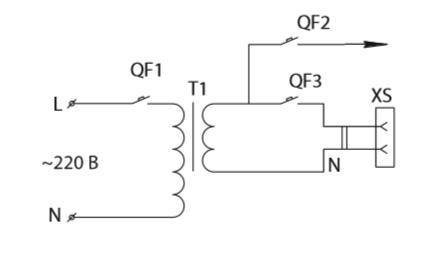 Принципиальная схема ящика серии ЯТП