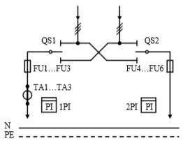 Схема первичных соединений УВР-02