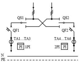 Схема первичных соединений УВР-03