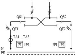 Схема первичных соединений УВР-05