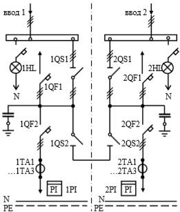 Схема первичных соединений УВР-08