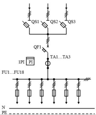 Схема первичных соединений УВР-11