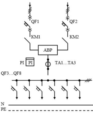 Схема первичных соединений УВР-14