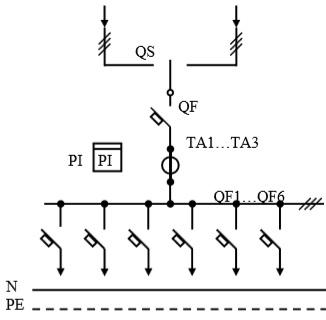 Схема первичных соединений УВР-21