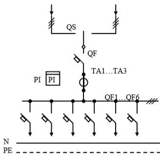 Схема первичных соединений УВР-22