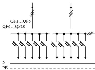 Схема первичных соединений УВР-41