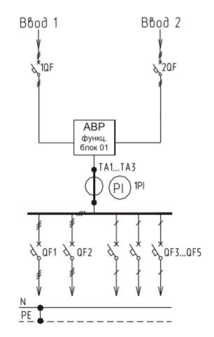 Схема ВРУ1-17-70