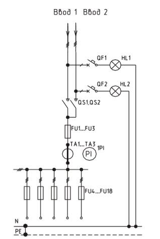 Схема ВРУ1-23-55, ВРУ1-23-55