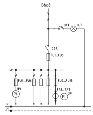 Схема ВРУ1-27-56, ВРУ1-27-54 с