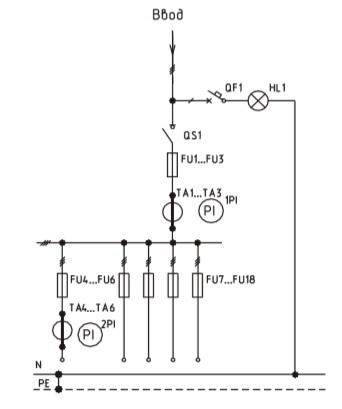 Схема ВРУ1-28-56, ВРУ1-28-54 с описанием элементов
