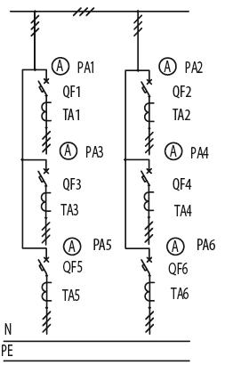 Схема первичных соединений ЩО-70-1-13-У3, ЩО-70-1-28-У3