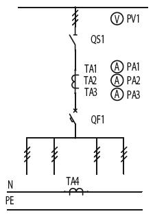 Схема первичных соединений ЩО-70-1-35-У3, ЩО-70-1-53-У3