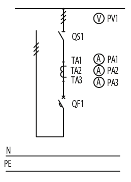 Схема первичных соединений ЩО-70-1-42-У3, ЩО-70-1-65-У3