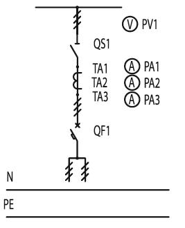 Схема первичных соединений ЩО-70-1-50-У3, ЩО-70-1-79-У3