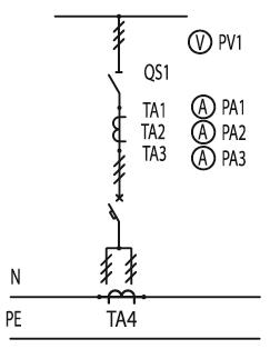 Схема первичных соединений ЩО-70-1-51-У3, ЩО-70-1-80-У3