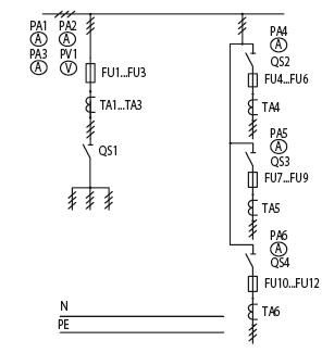 Схема первичных соединений ЩО-70-1-84-У3