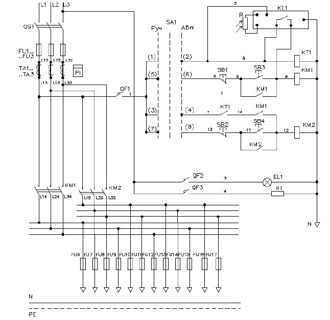 Схема электрическая принципиальная ШНО-01
