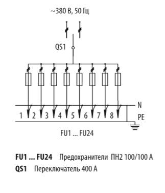 Схема распределительных шкафов ШР-11-73519-31УХЛ3 и ШР-11-73519-54У3