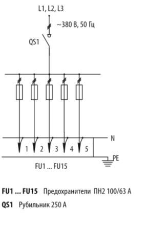 Схема распределительных шкафов ШР-11-73701-31УХЛ3 и ШР-11-73701-54У3