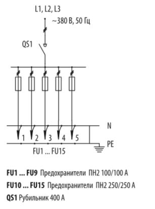 Схема распределительных шкафов ШР-11-73707-31УХЛ3 и ШР-11-73707-54У3