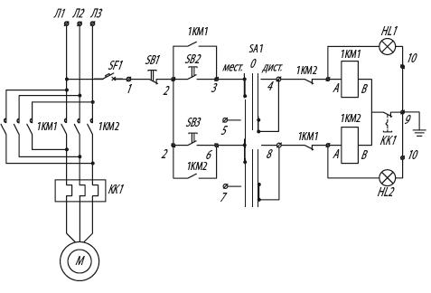 Я5431 для управления реверсивными электродвигателями