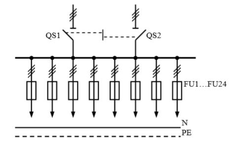 Схема первичных соединений распределительных шкафов ШР-1-30-У3