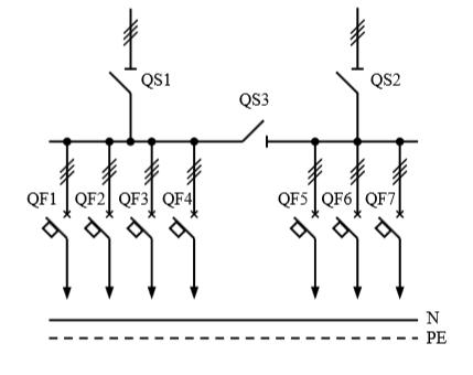 Схема первичных соединений распределительных шкафов ШР-1-32-У3