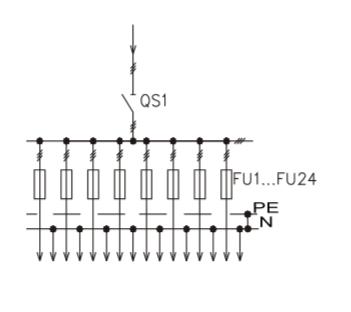 Схема промышленного распределительного шкафа ШР-86-СЕ-06.У3