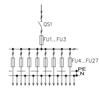 Схема промышленного распределительного шкафа ШР-86-СЕ-16.У3