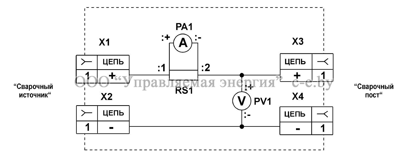 Схема электрическая принципиальная блока измерительного БИ-1