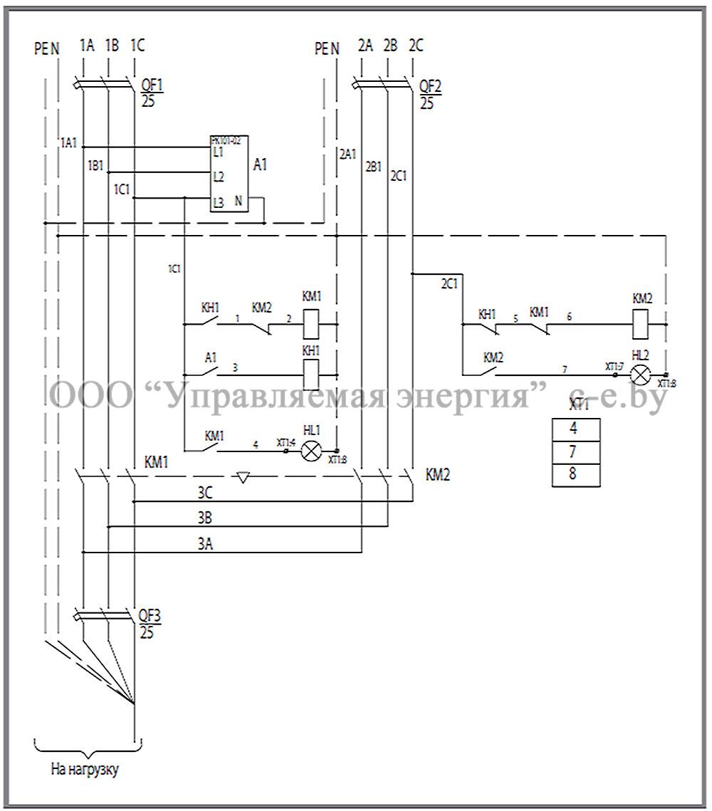 Схема соединений и элементы ЩАП-23