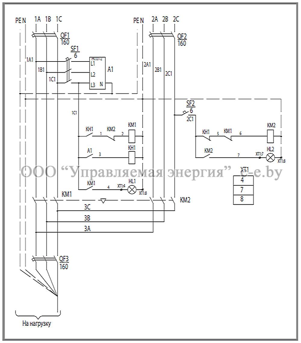 Схема соединений и элементы ЩАП-63