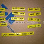 Комплект маркировки проводов для подключения электросчетчика через трансформаторы тока