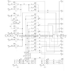 Электрическая схема шкафа управления тепловыми завесами(МП-Е)