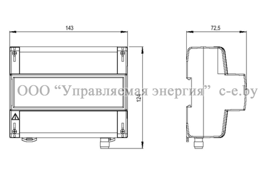 Габариты УСПД 164-01Б-2