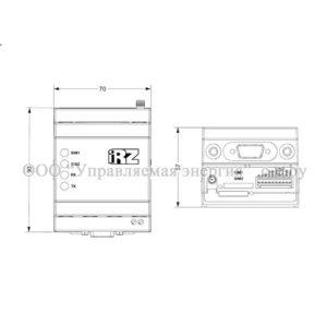 Габариты 3G коммуникатора iRZ ATM31.A и ATM31.B