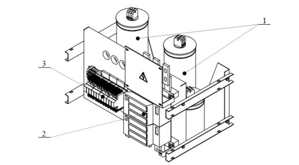 Общий вид модуля конденсаторного АКУ