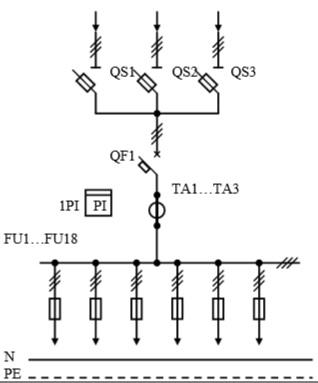 Схема первичных соединений УВР-12