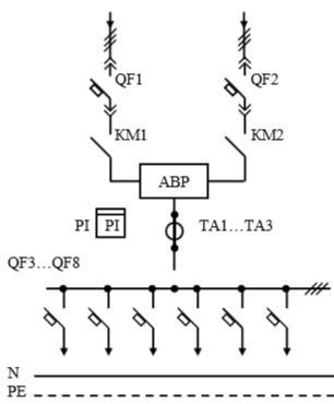 Схема первичных соединений УВР-15