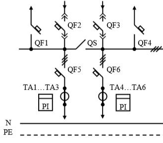 Схема первичных соединений УВР-17