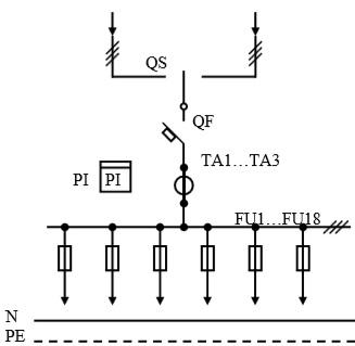 Схема первичных соединений УВР-19
