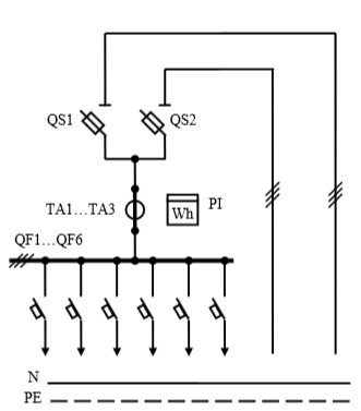 Схема первичных соединений УВР-23