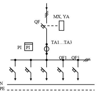 Схема первичных соединений УВР-25