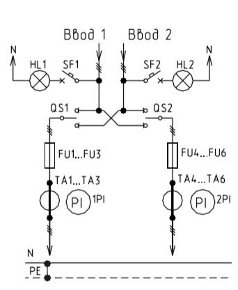 Схема ВРУ1-11-10, ВРУ1-12-10