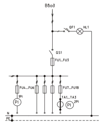 Схема ВРУ1-27-56, ВРУ1-27-54 с описанием элементов