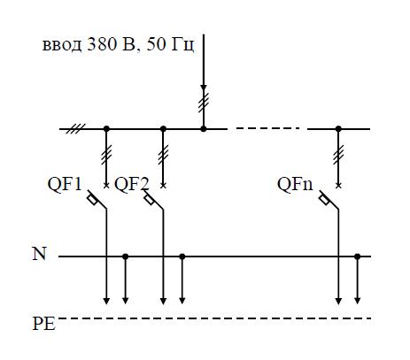 Схема распределительного пункта ПР11-006