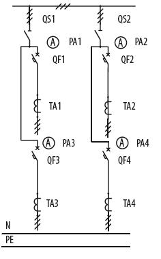 Схема первичных соединений ЩО-70-1-07-У3, ЩО-70-1-08-У3
