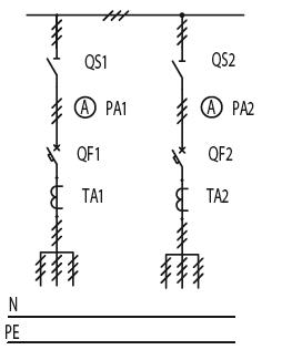 Схема первичных соединений ЩО-70-1-09-У3, ЩО-70-1-10-У3