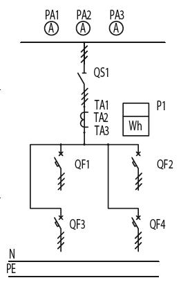 Схема первичных соединений ЩО-70-1-11-У3, ЩО-70-1-27-У3